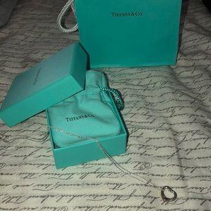 Tiffany & Co. Jewelry - Tiffany necklace 16 mm open heart pendant